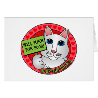 Purr for Food Greeting Card