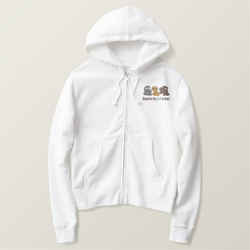 Purr in Heart Embroidered Hoodie