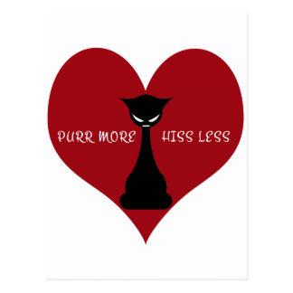 Purr More, Hiss Less Postcard