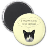 Purr My Way Out of Anything Magnet
