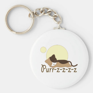 Purr-z Sleeping Kitty Cat Key Chain