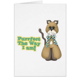 Purrfect Autism Awareness Kitty Cat Greeting Card