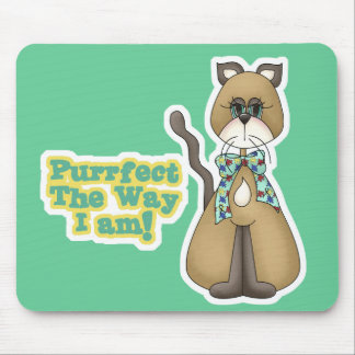 Purrfect Autism Awareness Kitty Cat Mouse Pad