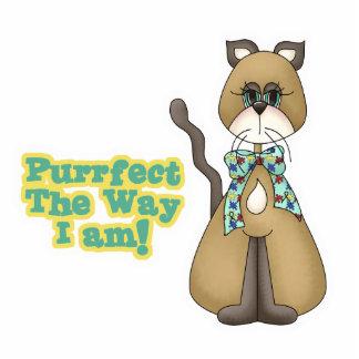 Purrfect Autism Awareness Kitty Cat Standing Photo Sculpture