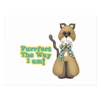 Purrfect Autism Awareness Kitty Cat Postcard
