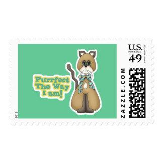 Purrfect Autism Awareness Kitty Cat Stamp