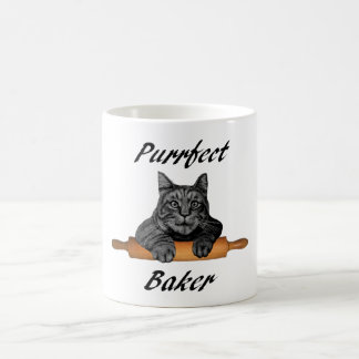 Purrfect Baker Cat Gifts crazy cat lady Coffee Mug