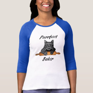 Purrfect Baker Cat Gifts crazy cat lady T-Shirt