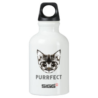 Purrfect beverage container aluminum water bottle