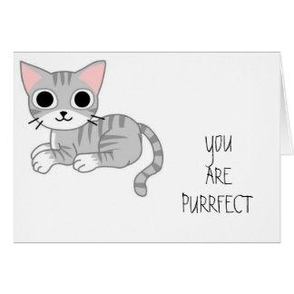 """Purrfect"" Birthday Card"