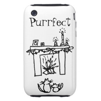 Purrfect Christmas Cats Tough iPhone 3 Cover