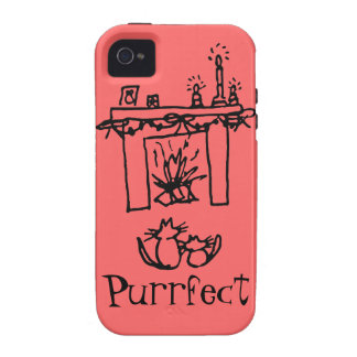 Purrfect Christmas Cats Vibe iPhone 4 Cover