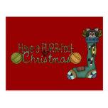 Purrfect Christmas Stocking Cat Postcard
