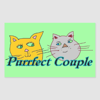 Purrfect Couple Stickers