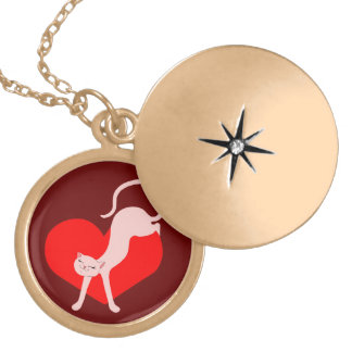 Purrfect Fit Locket Necklace