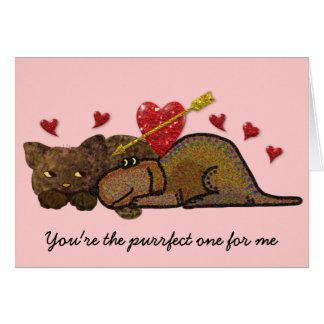 Purrfect Love Card