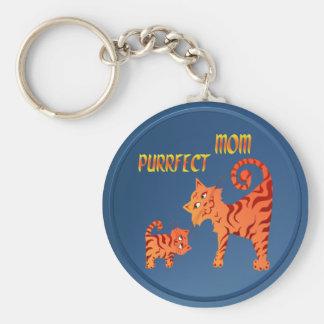 PurrFect Mom Keychain