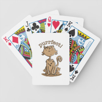 Purrfect Mommy cat and kittens Bicycle Playing Cards
