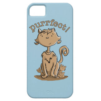 Purrfect Mommy cat and kittens iPhone SE/5/5s Case