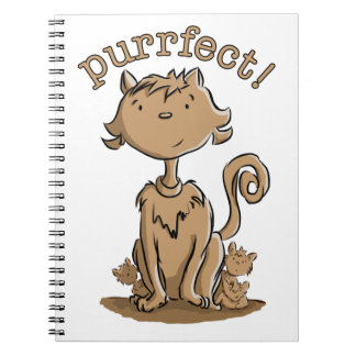 Purrfect Mommy cat and kittens Spiral Notebook