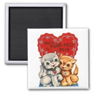 Purrfect Pair Kitty Valentine Magnet