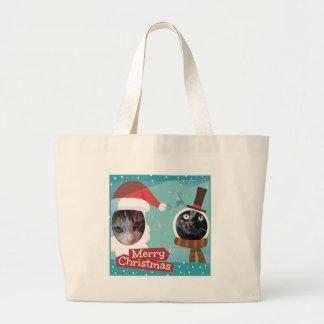 Purrfect Santa Cat Bags