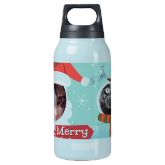 Purrfect Santa Cat Insulated Water Bottle