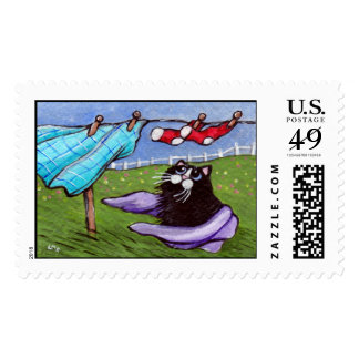 Purrfect Wash Day Postage