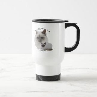 PURRfection Birman Lilac Travel Mug