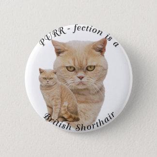 Purrfection British Shorthair Red/Creme Pinback Button