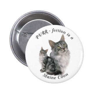 Purrfection Maine Coon Pinback Button