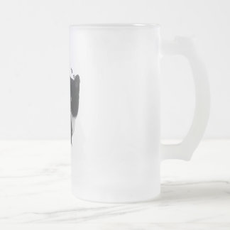 PURRfection Manx Frosted Glass Beer Mug