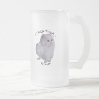 PURRfection Persian Frosted Glass Beer Mug