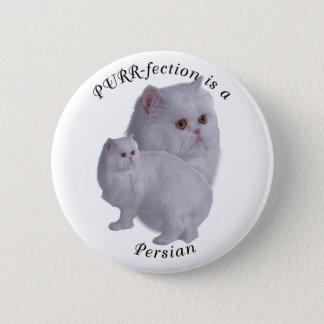 PURRfection Persian Pinback Button