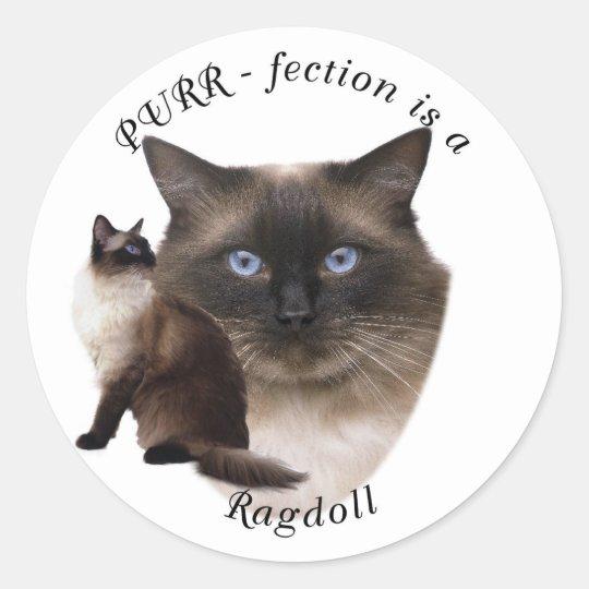 Purrfection Ragdoll Classic Round Sticker