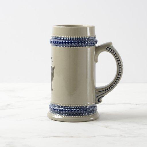 PURRfection Russian Blue 18 Oz Beer Stein
