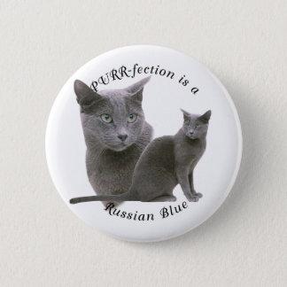 PURRfection Russian Blue Pinback Button