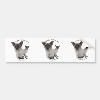 PURRfection Siamese Cat Lilac Bumper Sticker