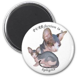 PURRfection Sphynx 2 Inch Round Magnet