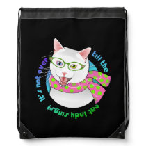 Purrfectly Meowvelous Hipster Geek Diva Cat Bag