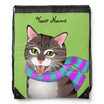 Purrfectly Meowvelous Hipster Geek Tabby Cat Bag