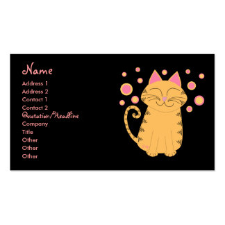 Purrfectly Sane Cat Lady Double-Sided Standard Business Cards (Pack Of 100)