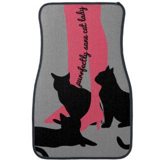 Purrfectly Sane Cat Lady Floor Mats Car Mat