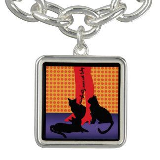 Purrfectly Sane Cat Lady Charm Bracelet