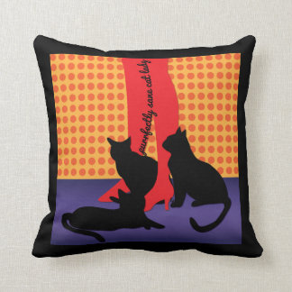 Purrfectly Sane Cat Lady Throw Pillow