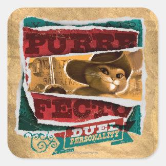Purrfecto Square Stickers