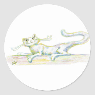Purring About You Classic Round Sticker