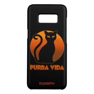 Purring Cat And Sun Purra Vida Pure Life Funny Case-Mate Samsung Galaxy S8 Case