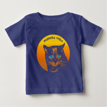 Purring Cat And Sun Purrra Vida Pure Life Cool Baby T-Shirt