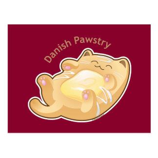 Purrista Pawfee: Cute Danish Pastry Cat Postcard